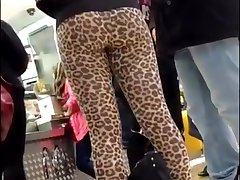 LEOPARD LEGGINGS TEEN ASS