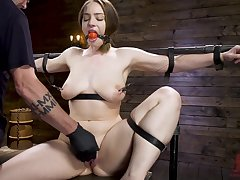 Serious sexual congress apparatus and hard cum are favorite things for Hadley Mason