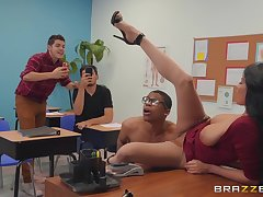 dirty teacher Anissa Kate wants all over get fucked by a dude in the classroom