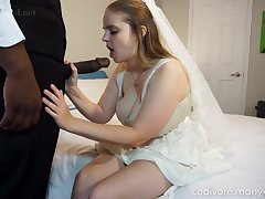 Big-Chested, perforator bride is having astounding fuck-fest anent a ebony stud, befitting before make an issue of wedding ceremony