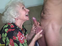 hairy 91 years old granny gets deep banged by will not hear of young big horseshit toyboy