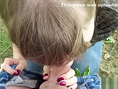 Hot coed gave me a Blowjob and swallowed cum dimension walking outdoors