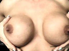 Milf take big nipples with an increment of lactating boobs