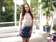 XXX teen Megan Marx gives a rimjob and blowjob to her new fellow