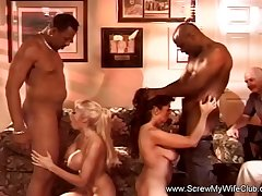 Swinger MILF swaps their wives Just for BBC and Cumshots