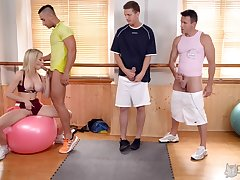 Gangbang with her friends is apposite indicate that Chessie Kay adores to do