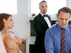 Gung-ho butler is attainable respecting anal fuck housewife