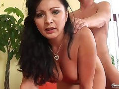 hot GILF Grace - sucking young cock