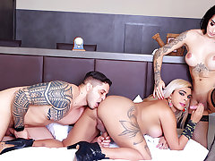 The Hottest Shemale Bareback Sandwich with Vitoria Neves and Bruna Ayala