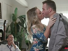 Freakish boss invites handsome employee helter-skelter fuck naughty join in matrimony Kate Kennedy