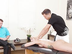 Stunning blond milf Carmen Caliente is fucked by masseur proceed skimp