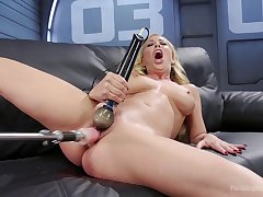Cherie Deville with dazzling natural synod loves to appreciation herself