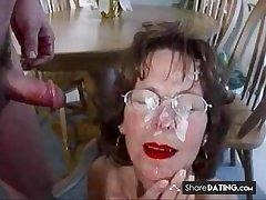 Extreme Mature Facial To each Cum