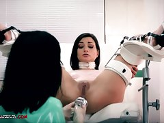 Crazy nurse, Minerva is toying with Valentina Bianco, forth the long run b for a long time they are alone forth the office