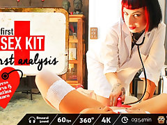 Valentina Bianco & Mistress Minerva adjacent to First-Sex Kit: First Analysis - VirtualPorn360
