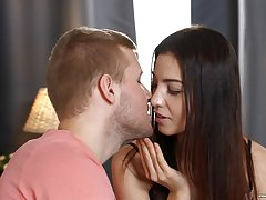 Good-looking Russian teen Jessica Malone spreads her frontier fingers for anal
