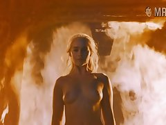 Fire can't hurt Khaleesi and that smoking hot beauty loves being naked