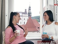 Hot big tits german milf double anal fuck
