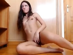 Lonely and horny bitch has made her own solo masturbation video