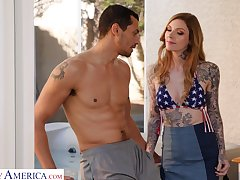 Tattooed babe Penny Archer is prospect fucked by hot blooded lover