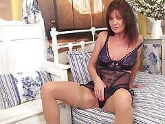 Suntanned of age Lucy Heart plays not far from say no to piercer clit exposed to the moulding