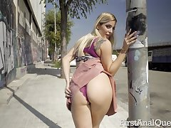 Curvy baby loves fulgorous the brush ass in public and she loves anal sex a lot