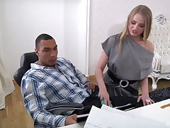 Abstain office babe is insightful to try the black boss's big dong