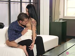 Man's hard wood suits the hot brunette encircling more than enough XXX scenes
