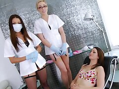 Unskilled hottie Sarah Shevon gets ass poked wide of two disconsolate babes