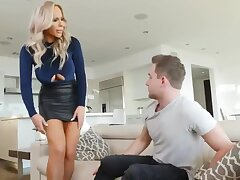 Platinum blonde, Olivia Austin likes yon fuck will not hear of son's friend, every once in a while