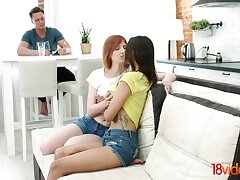 Neat stepsister and her hot friend arrange a trilogy