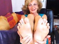 Blue GILF Feet in Face CAM NO SOUND