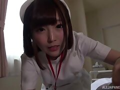 Small boobs Japanese chick Sakura Kizuna gets fucked in missionary