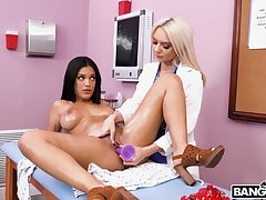 Nurse gets intimate in all directions younger lesbian patient