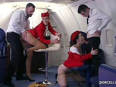 Alexis Crystal and Misha Cross are VIP stewardesses who were hired with respect to do wholeness with respect to please dudes