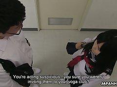 Lewd Japanese hottie Sayaka Aishiro provides doctor with go places blowjob