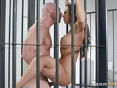 hairless guy enjoys a blowjob and good sex beside hot Abigail Mac