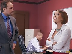 Krissy Lynn wants to fuck with her horny friend relative to the office